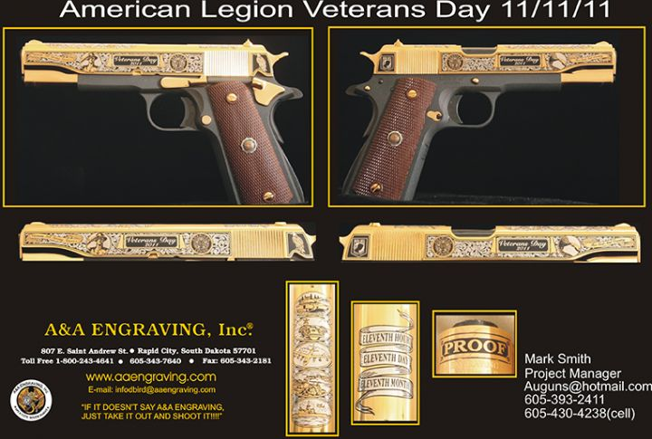 American Legion 11-11-11 Veterans Day 1911 Pistol