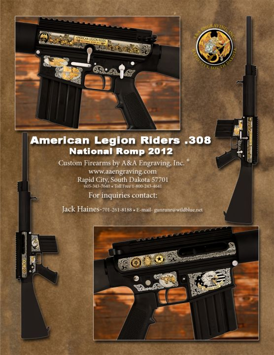 American Legion Riders National Romp DPMS .308 Caliber AR-15