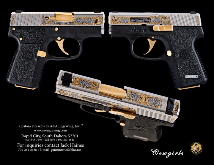 Bad Beautiful Cowgirl P380 Pocket Pistol