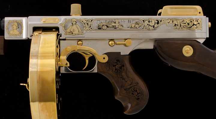 Custom 1920s Speakeasy-style Tommy Gun