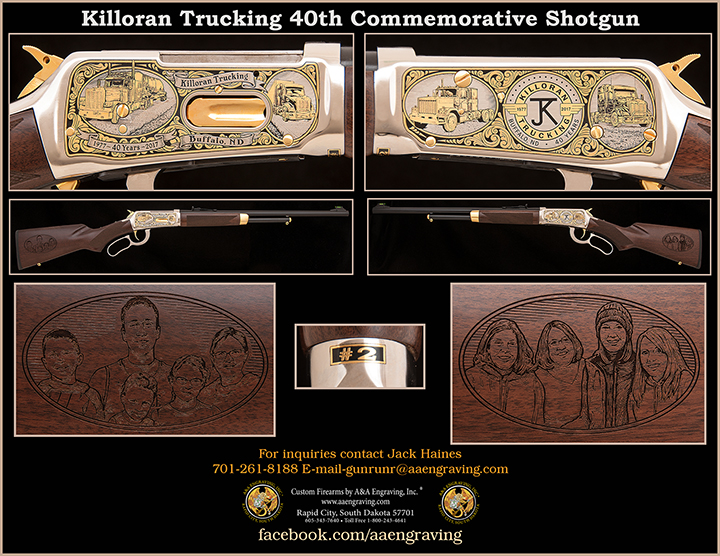 Killoran Trucking 40th Anniversary Commemorative Shotgun
