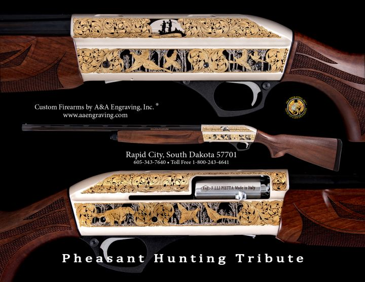 Pheasant Hunting Tribute 2016 Pietta Shotgun